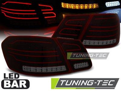 Задние неоновые фонари LED Red Smoke на Mercedes E класс W212