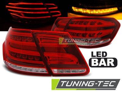 Задние фонари в стиле рестайла LED Red Crystal на Mercedes E класс W212