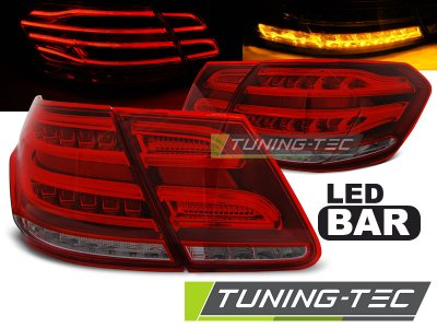 Задние фонари в стиле рестайла LED Red Smoke на Mercedes E класс W212