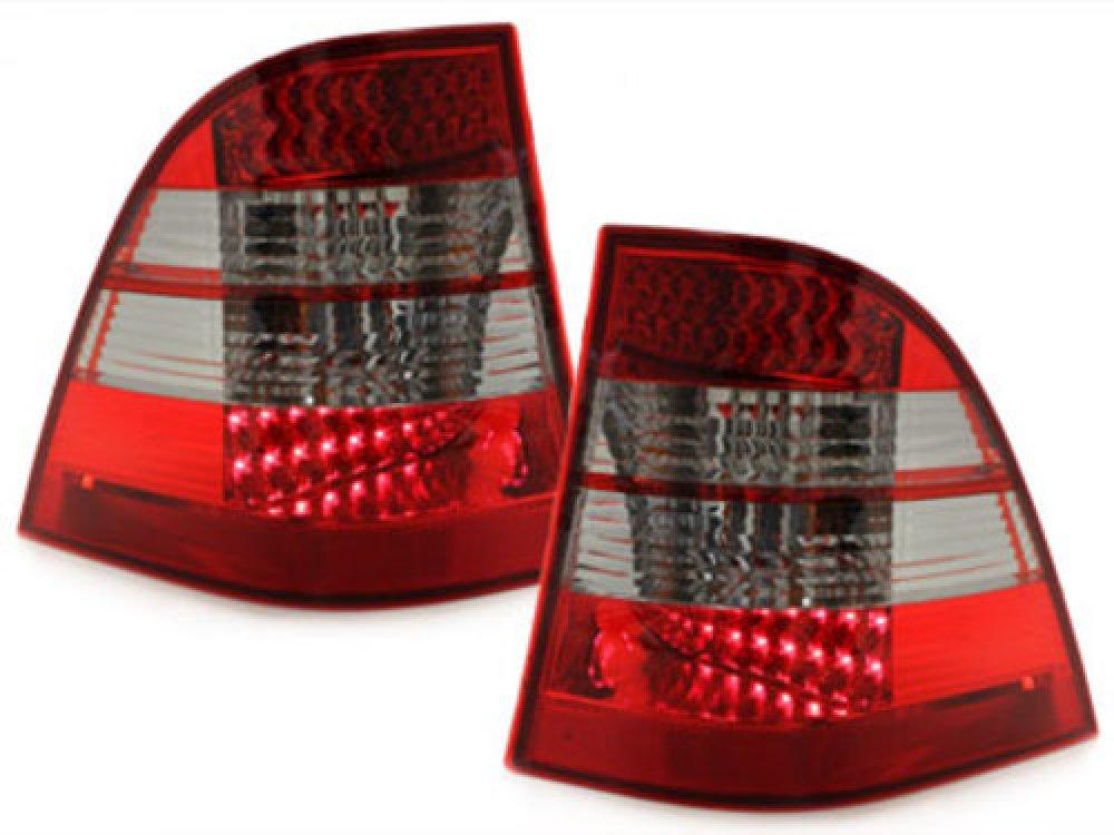 Задние фонари LED Red Smoke на Mercedes ML класс W163