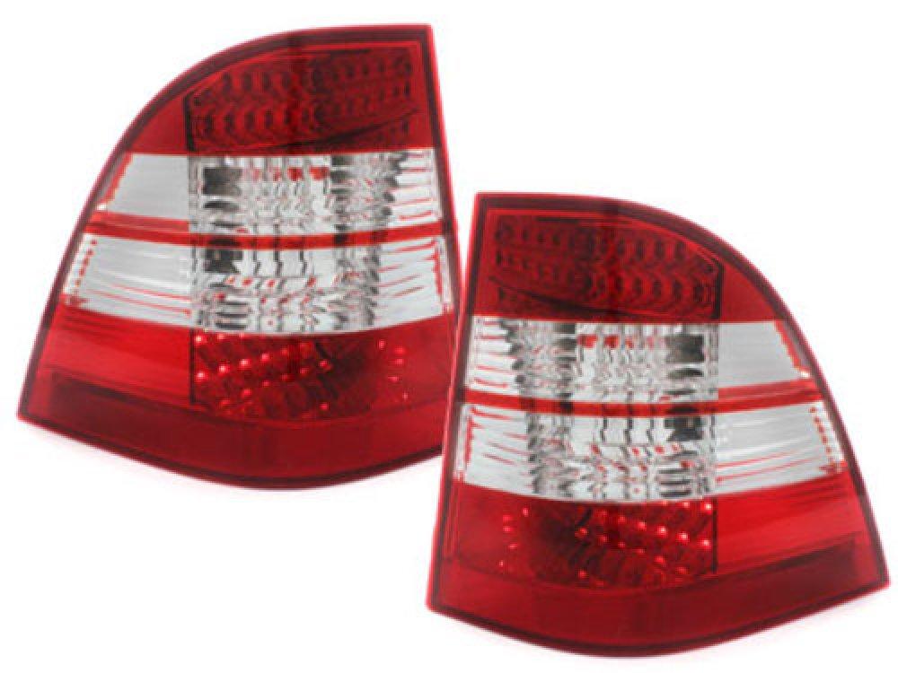 Задние фонари LED Red Crystal на Mercedes ML класс W163