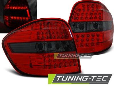 Задние диодные фонари LED Red Smoke на Mercedes ML класс W164
