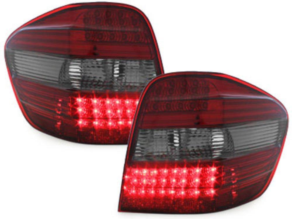 Задние фонари LED Red Smoke на Mercedes ML класс W164