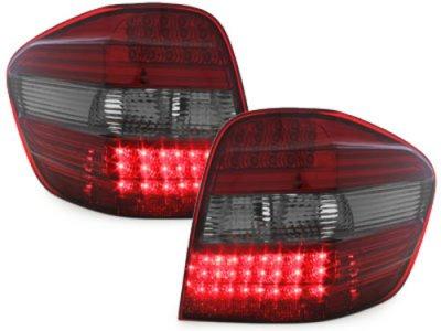 Задние тюнинговые фонари LED Red Smoke на Mercedes ML класс W164
