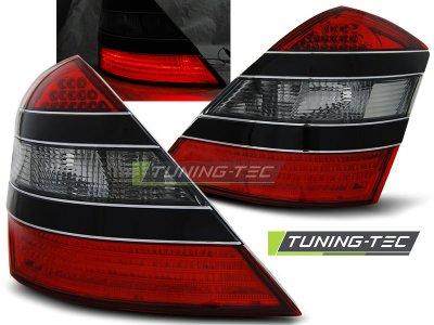 Задние диодные фонари LED Red Smoke на Mercedes S класс W221