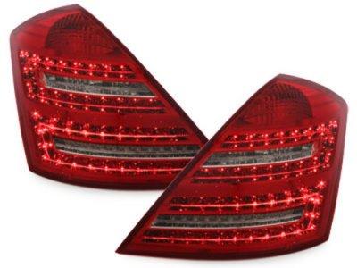 Задние фонари LED Red Crystal на Mercedes S класс W221