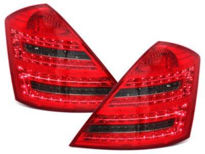 Задние фонари LED Red Smoke на Mercedes S класс W221