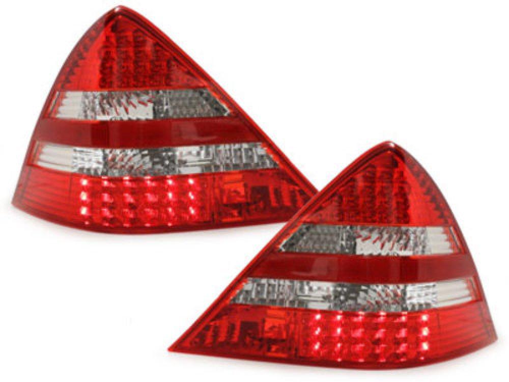 Задние фонари LED Red Crystal на Mercedes SLK класс R170