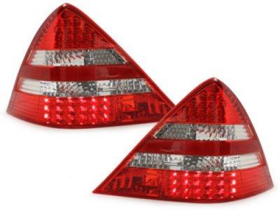Задняя альтернативная оптика LED Red Crystal на Mercedes SLK класс R170