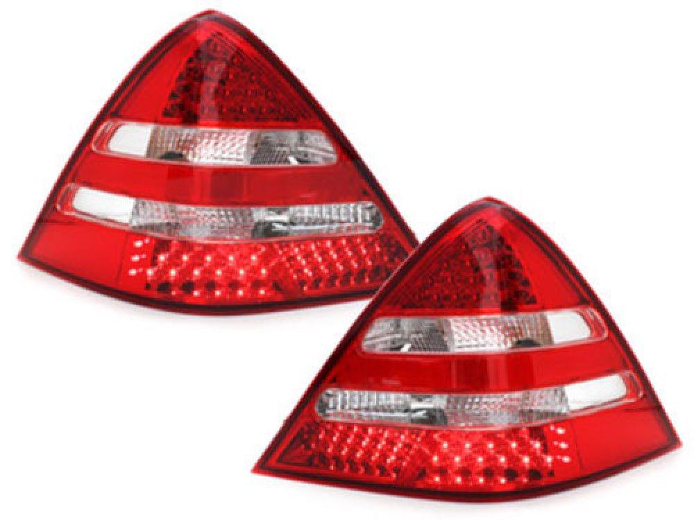 Задние диодные фонари LED Red Crystal на Mercedes SLK класс R170