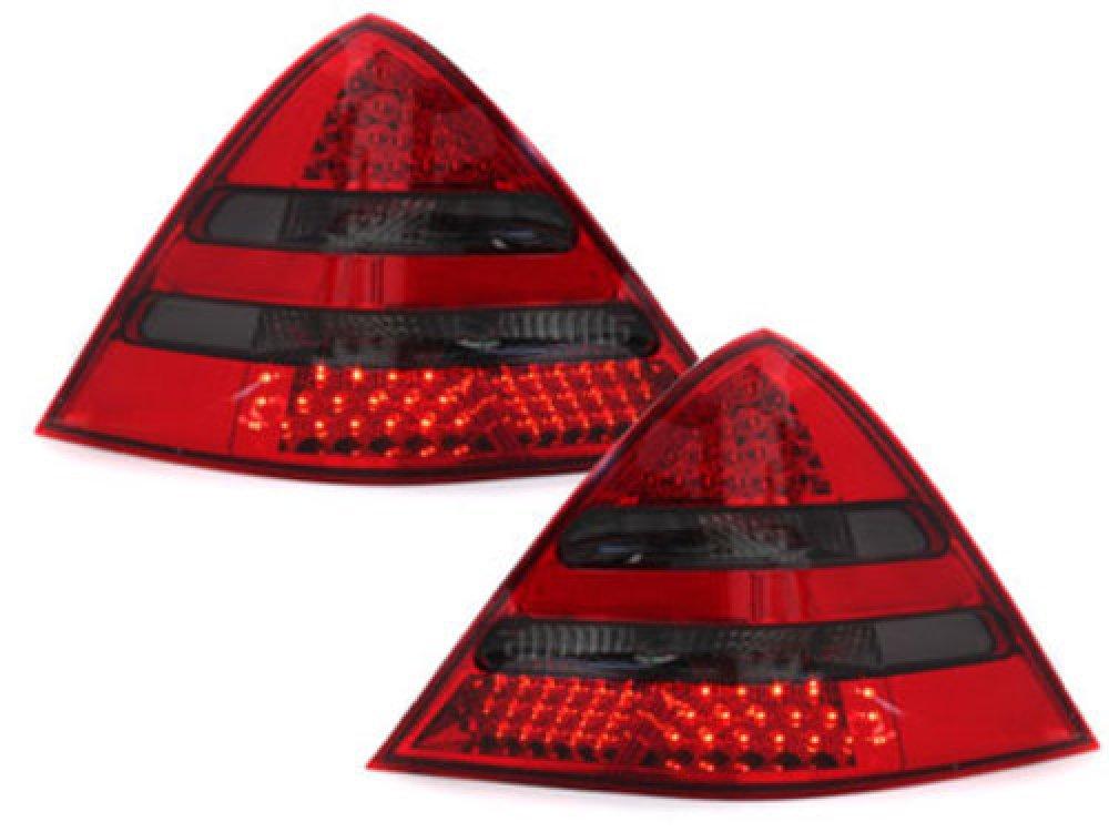Задние диодные фонари LED Red Smoke на Mercedes SLK класс R170