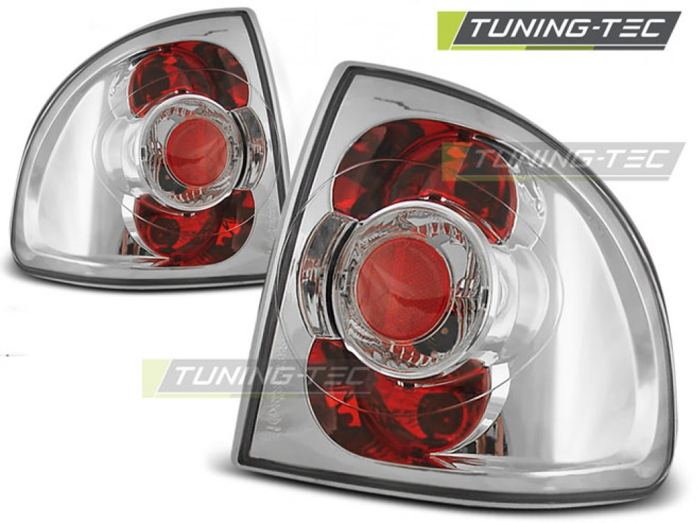 Задние фонари Chrome от Tuning-Tec на Opel Astra F Limousine / Cabrio