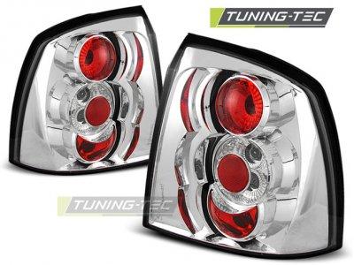 Задние фонари Chrome от Tuning-Tec на Opel Astra G 3D / 5D