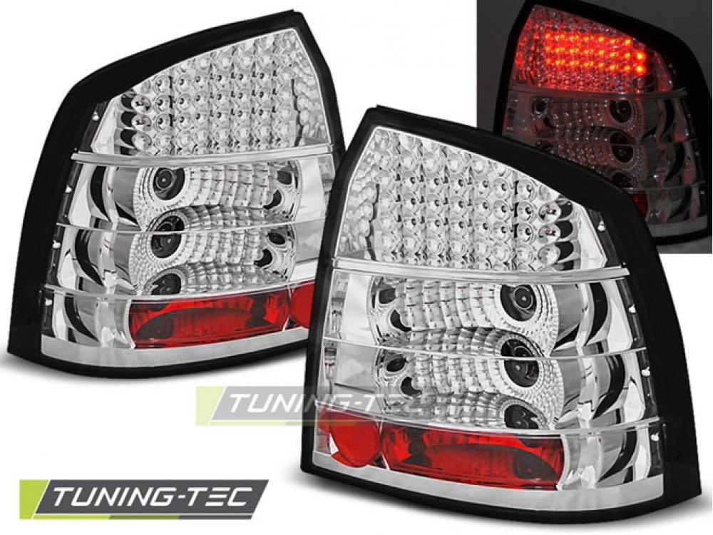 Задние фонари LED Chrome от Tuning-Tec на Opel Astra G 3D / 5D