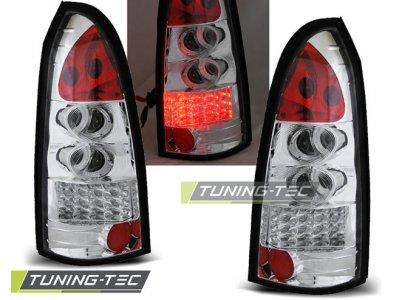 Задние фонари LED Red Chrome от Tuning-Tec на Opel Astra G Kombi