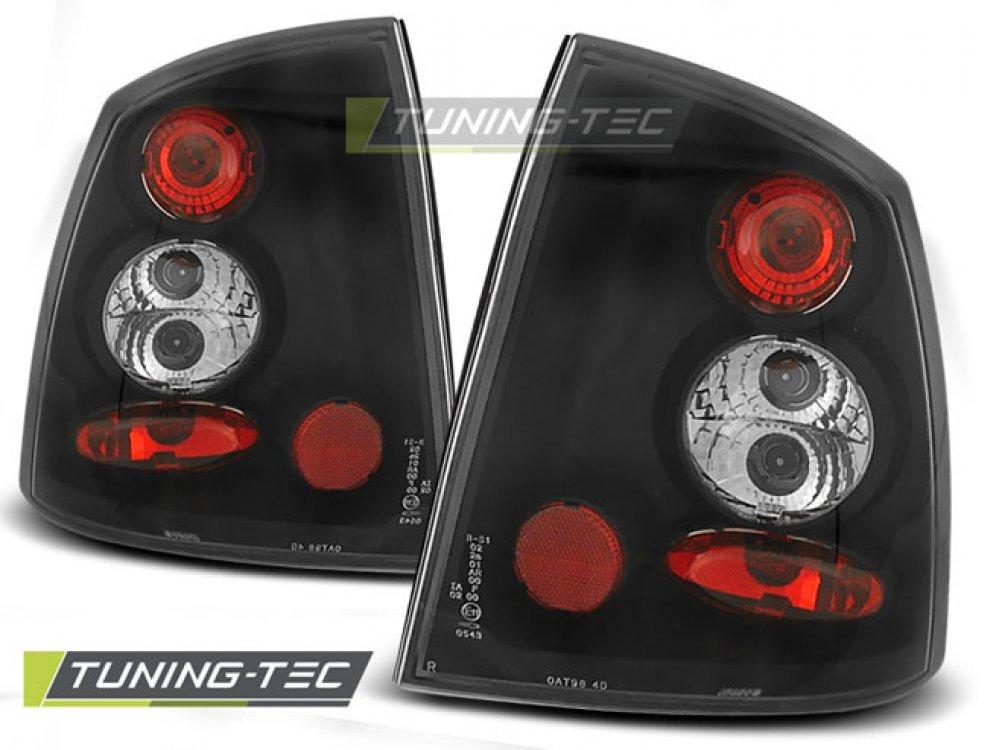 Задние фонари Black от Tuning-Tec на Opel Astra G 2D / 4D
