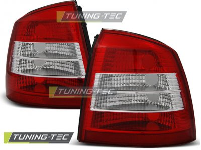 Задние тюнинговые фонари Red Crystal от Tuning-Tec на Opel Astra G 3D / 5D