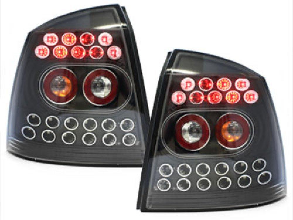 Задние фонари LED Black на Opel Astra G