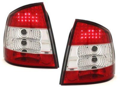 Задние фонари LED Red Crystal на Opel Astra G