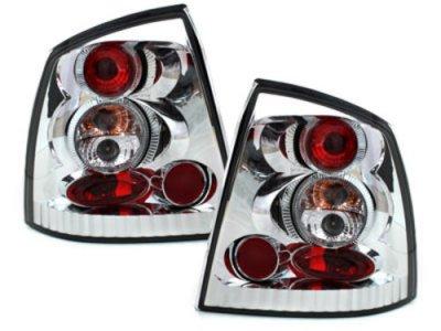 Задние фонари Crystal на Opel Astra G