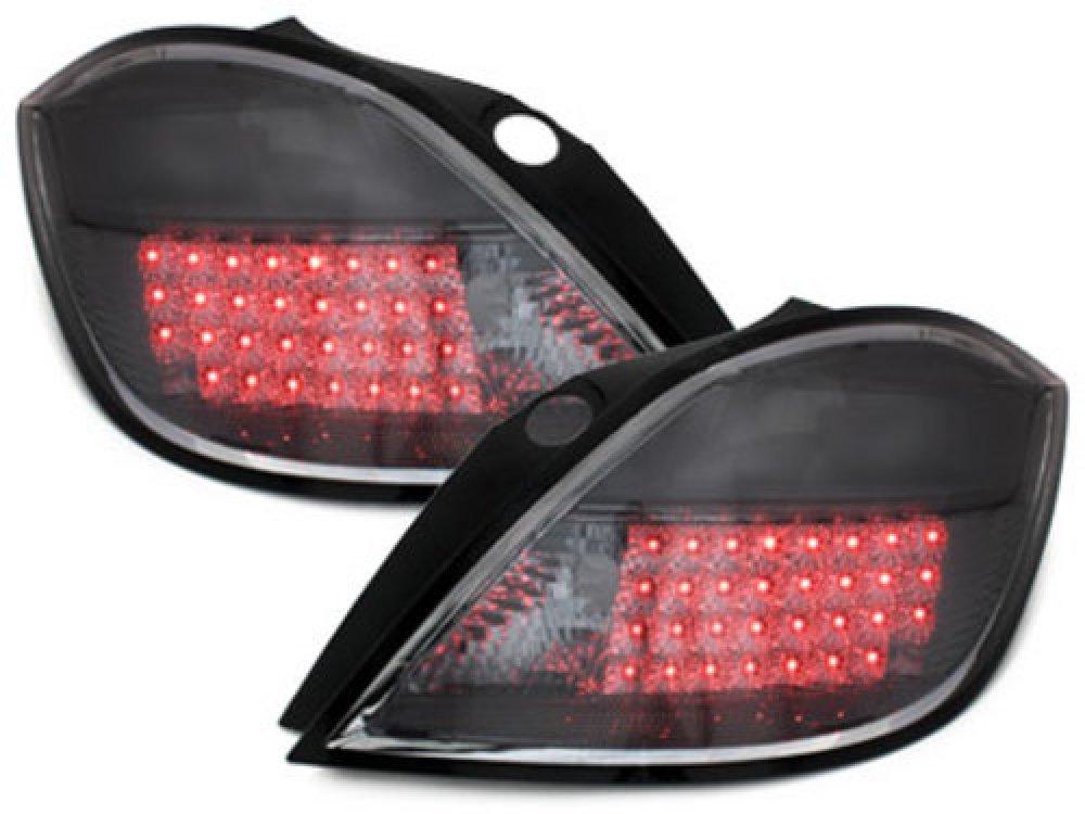 Задние фонари LED Smoke на Opel Astra H 5D