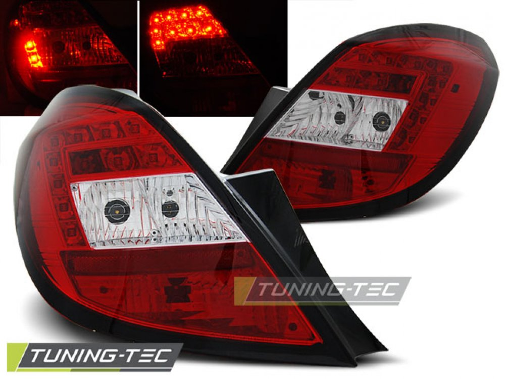 Задние фонари LED Red Crystal от Tuning-Tec на Opel Corsa D 5D