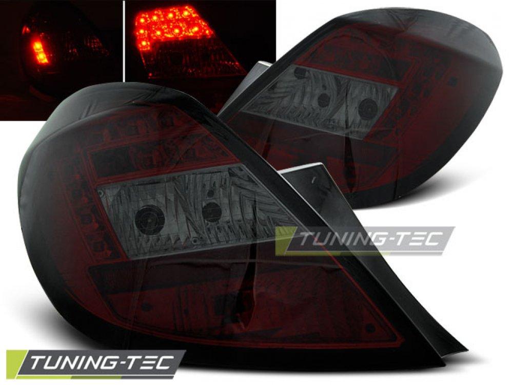 Задние фонари LED Red Smoke от Tuning-Tec на Opel Corsa D 5D