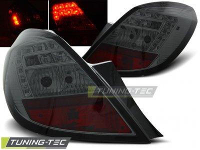 Задняя альтернативная оптика LED Smoke от Tuning-Tec на Opel Corsa D 5D