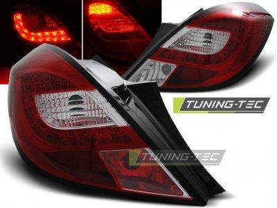 Задняя альтернативная оптика LED Red Crystal от Tuning-Tec на Opel Corsa D 3D