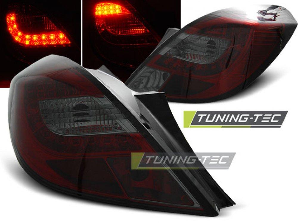 Задние фонари LED Red Smoke от Tuning-Tec на Opel Corsa D 3D