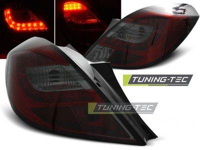 Задняя альтернативная оптика LED Red Smoke от Tuning-Tec на Opel Corsa D 3D