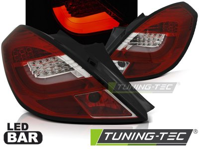 Задние фонари LEDBar Red Crystal от Tuning-Tec на Opel Corsa D 3D