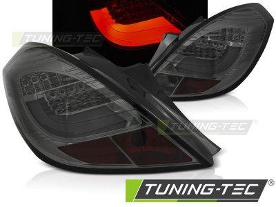 Задние фонари LEDBar Smoke от Tuning-Tec на Opel Corsa D 3D