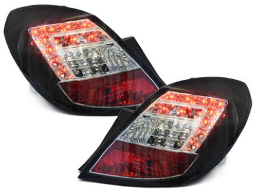 Задние фонари LED Black на Opel Corsa D 5D
