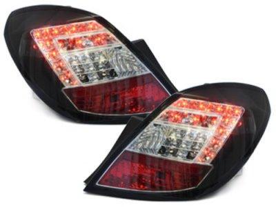 Задние светодиодные фонари LED Black на Opel Corsa D 5D