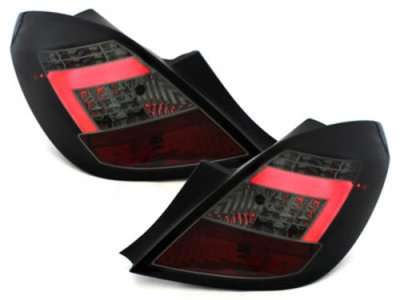 Задние фонари CarDNA LED Black Smoke на Opel Corsa D 5D
