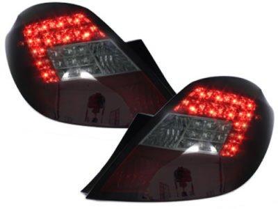 Задние светодиодные фонари LED Red Smoke на Opel Corsa D 5D