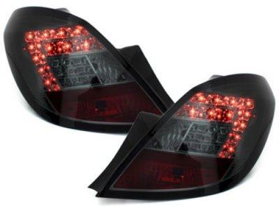 Задние светодиодные фонари LED Smoke на Opel Corsa D 5D