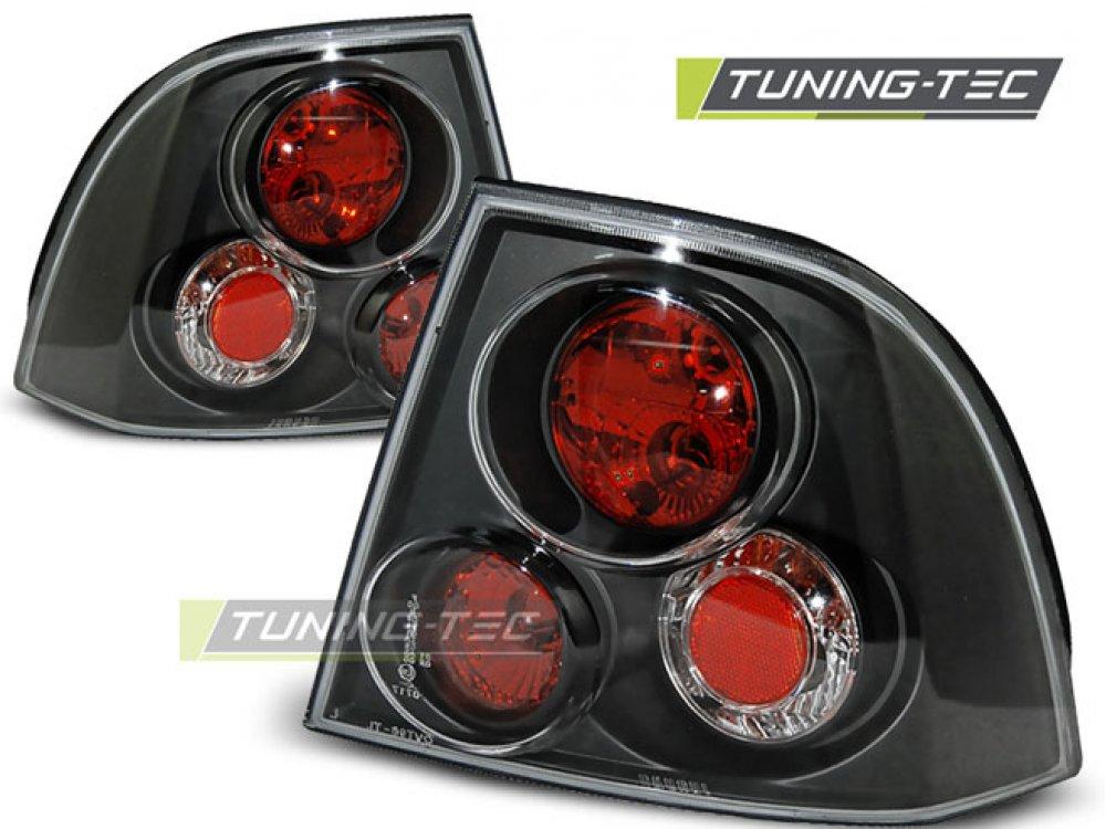 Задние фонари Black V3 от Tuning-Tec на Opel Vectra B