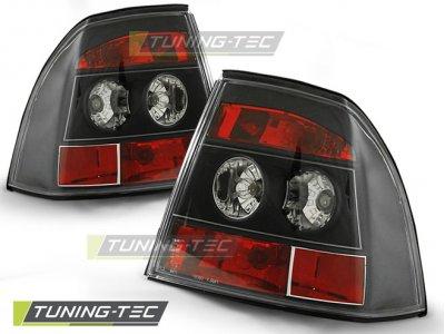 Задняя альтернативная оптика Black Var2 от Tuning-Tec на Opel Vectra B
