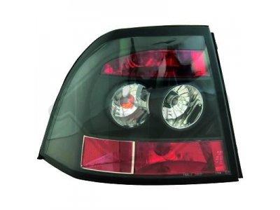 Задняя альтернативная оптика Black на Opel Vectra B