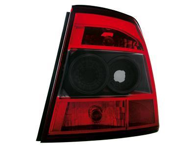 Задние тюнинговые фонари Red Black на Opel Vectra B