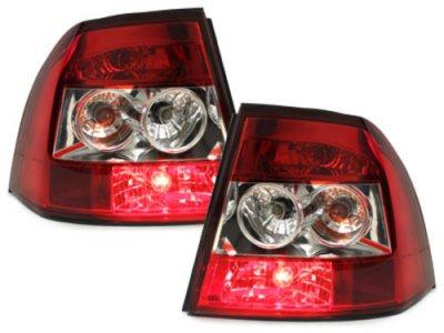 Задняя альтернативная оптика Red Crystal на Opel Vectra B