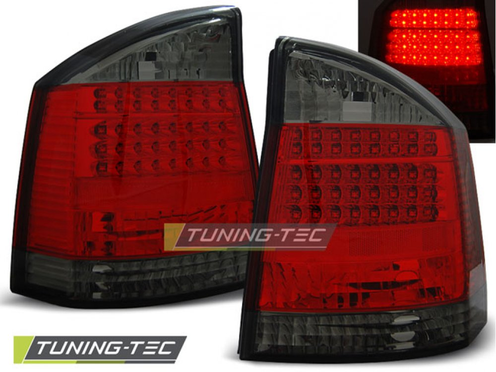 Задние фонари LED Bar Red Smoke на Opel Vectra C