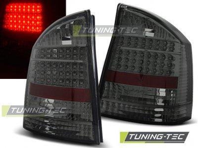 Задние светодиодные фонари LED Bar Smoke на Opel Vectra C