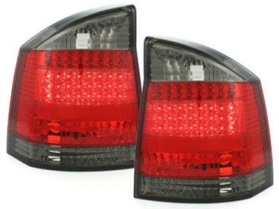 Задние тюнинговые фонари LED Red Smoke на Opel Vectra C