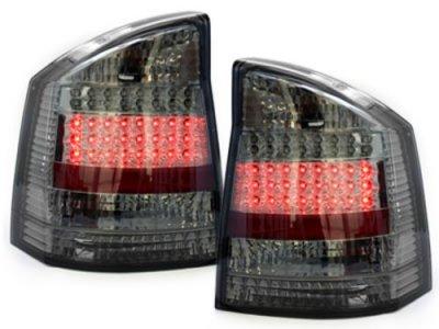 Задние тюнинговые фонари LED Smoke на Opel Vectra C