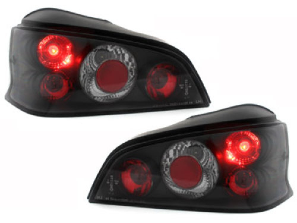 Задние фонари Black на Peugeot 106