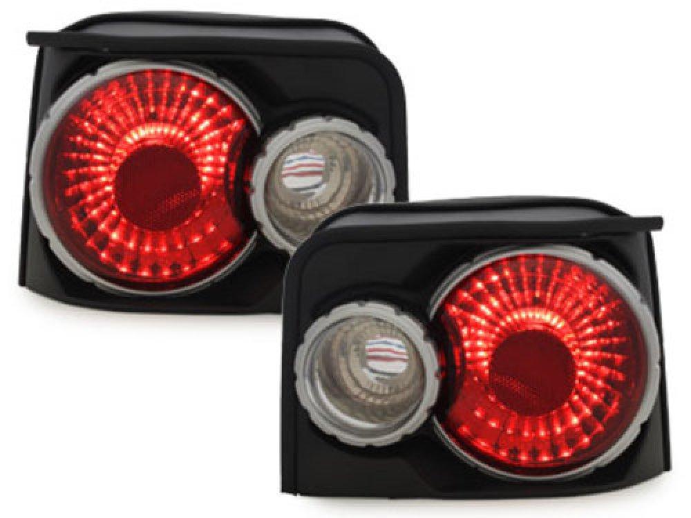 Задние фонари Black на Peugeot 205