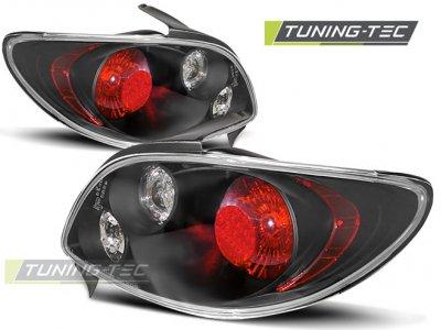 Задние фонари Black от Tuning-Tec на Peugeot 206